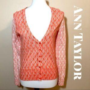 Ann Taylor NWT orange button down cardigan